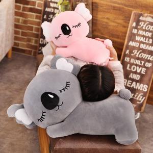 ぬいぐるみ コアラ 抱き枕 クッション ふわふわ インテリア雑貨 誕生日ギフト ピンク グレー 60cm|beluhappines
