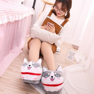 靴 冬 スリッパ ルームシューズ ハスキー かわいい おしゃれ 暖かい 室内スリッパ カジュアル 防寒 beluhappines