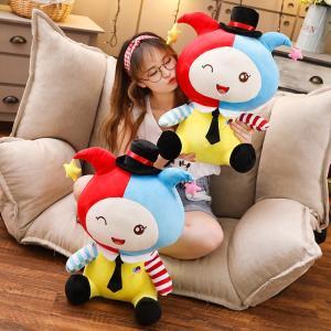 ぬいぐるみ ピエロ 人形 インテリア雑貨 抱き枕 ふわふわ 男の子 女の子 赤ちゃん 子供 誕生日ギフト 60cm|beluhappines