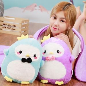 ぬいぐるみ ペンギン  赤ちゃん 昼寝 抱き枕 ブランケット付き 誕生日 贈り物 |beluhappines