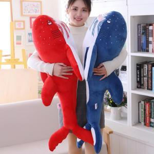 ぬいぐるみ さめ サメ 鮫 ふわふわ 動物 抱き枕 おもしろ クッション プレゼント135cm|beluhappines