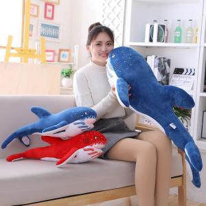 ぬいぐるみ さめ サメ 鮫 ふわふわ 動物 抱き枕 おもしろ クッション プレゼント 60cm|beluhappines
