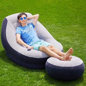 ソファ  体にフィットするソファー  一人掛け 人をダメにする クッション 椅子 エアーソファー オットマン付 beluhappines