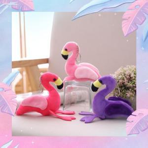 キーホルダー ぬいぐるみ フラミンゴ 可愛い インテリア雑貨 車用 アクセサリー 子供用 おもちゃ 12cm|beluhappines