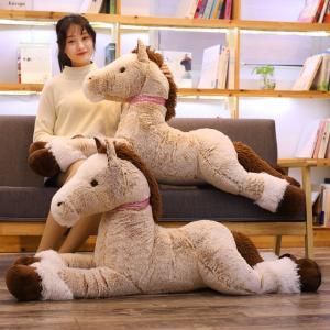 ぬいぐるみ うま 抱き枕 かわいい ふわふわ おもちゃ こども 誕生日 記念日 クリスマス お祝い プレゼント120cm|beluhappines