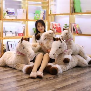 馬 ぬいぐるみ 抱き枕 ふわふわ 癒し   おもちゃ こども 誕生日 記念日 クリスマス 贈り物90cm|beluhappines