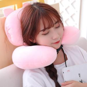 U枕 U型枕 首枕 ふわふわ 飛行機 車用 旅行用 昼寝枕 ギフト|beluhappines