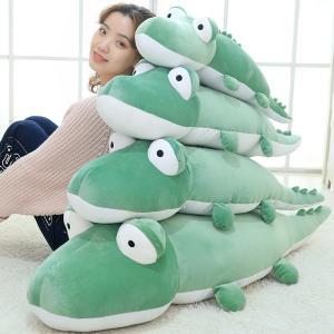 わに ぬいぐるみ 鰐 ワニ かわいい ふわふわ 抱き枕 大きい クッション 誕生日プレゼント 100cm|beluhappines