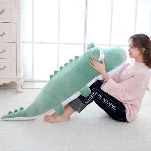 ワニ ぬいぐるみ 鰐 抱き枕 クッション 大きい かわいい ふわふわ 昼寝まくら 誕生日プレゼント120cm|beluhappines