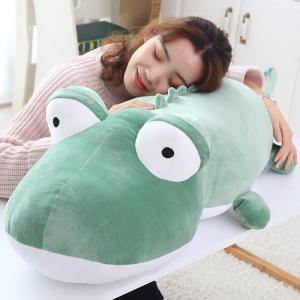 ぬいぐるみ 鰐 ワニ 大きい ふわふわ 抱き枕 クッション 昼寝枕 誕生日プレゼント 140cm|beluhappines