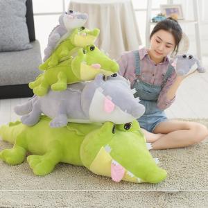 ぬいぐるみ 鰐 わに かわいい おもちゃ こども 宥め おもしろいクッション 抱き枕 ギフト45cm|beluhappines