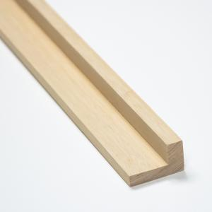 【L字形木材 1000x40x24mm】 額縁 ドア枠 床見切り 木材販売 木材通販 DIY 日曜大工 木工用材 家具用材|beniyamokuzaicom