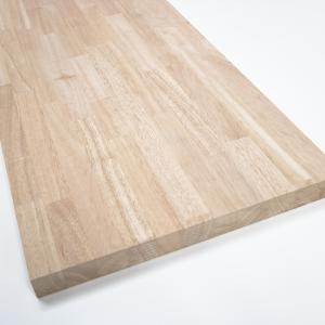 川島材木店 木製カウンターテーブル ゴムの木 150x30x2.5~3cm DIY リフォーム リノ...