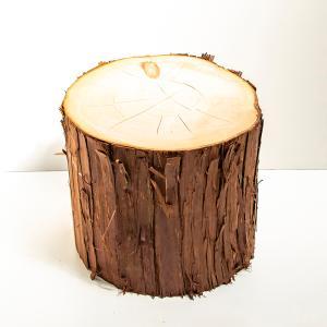 桧切り株 高さ25cm 直径約35cm 安心の国産材です。お部屋に自然の安らぎを。 ディスプレイ|beniyamokuzaicom