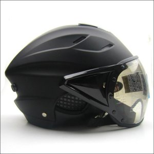 ジェットヘルメット オープンフェイス シールド付 半帽 ハーフ バイク 安全規格 ヘルメット 男女兼...