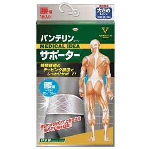 バンテリンサポーター 腰用 シャイニンググレー 大きめサイズ 胴囲80~100cm あすつく対応 benkyoudou