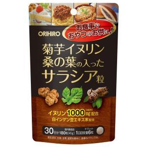 菊芋イヌリン桑の葉の入ったサラシア粒 180粒 メール便送料無料|くすりの勉強堂