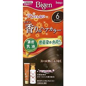 ビゲン香りのヘアカラー乳液 6(ダークブラウン)
