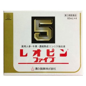 【第3類医薬品】  レオピンファイブw 60ml×4本入 レオピン5|benkyoudou