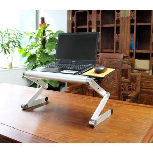 POWSEED 多機能 ラップトップ テーブル ノートPC ノートパソコン 台 机 スタンド ベッド...