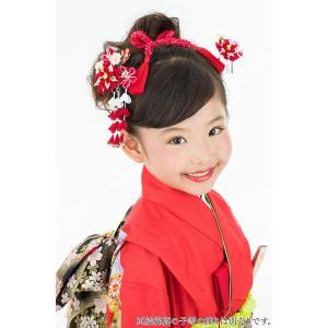 七五三髪飾り かんざし 梅つまみ細工 子供 髪型 着物 和装 花簪 正月 3歳7歳 753|benriithiban