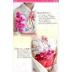 襟飾り ホワイト 帯飾り 成人式 振袖 卒業式 袴 着物 和装 簪 髪型|benriithiban