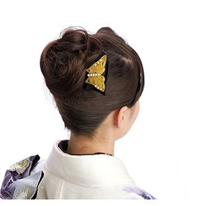 透かし彫り 蝶パール ラインストーン 結婚式 髪飾り 留袖 着物 和装 簪 髪型 婚礼|benriithiban