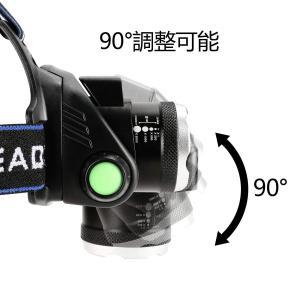 Zredurneyヘッドライト USB充電式 18650バッテリー付き センシング付き 夜釣り 工事 作業適用|benriithiban
