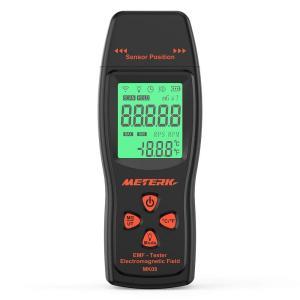 Meterk 電磁波計 電磁波測定器 EMF検出器 線量計 電磁場放射テスター EMFメーター ハンドヘルド ミニ デジタル LCD|benriithiban