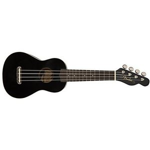 Fender ウクレレ Venice Soprano Uke, Black|benriithiban