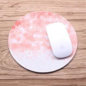 マウスパッド-TopYartゴム製裏面オフィス用丸形マウスパッド桜花びら柄