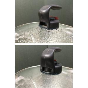 ワンダーシェフガラス蓋自動で蒸気を逃がす20cmエコグリップ690036