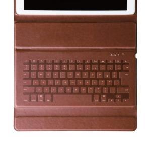 エレコムワイヤレスキーボードケース一体型BluetoothイタリアンソフトレザーiPadPro12....