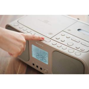 ソニー SONY CDラジオカセットレコーダー CFD-S401 : FM/AM/ワイドFM対応 大型液晶/カラオケ機能搭載 電池駆動可能|benriithiban