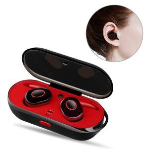 PZX Bluetooth イヤホン 高音質 充電収納ボックス 片耳 両耳とも ワンボタン設計 ハン...