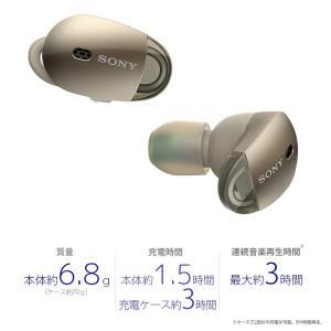 ソニー SONY 完全ワイヤレスノイズキャンセリングイヤホン WF-1000X : Bluetooth対応 左右分離型 マイク付き 2017|benriithiban