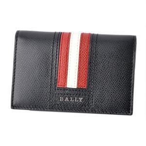 バリー BALLY TYKE.LT 10 6218025 バリーストライプ パスケース付 カードケー...