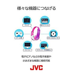 JVC 密閉型ヘッドホン キッズ向け ミントブルー HA-KS2-Z