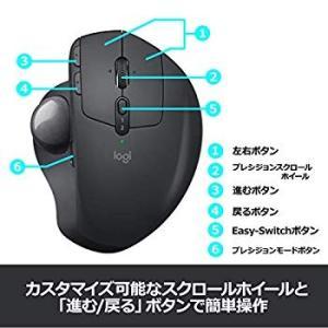 ロジクール ワイヤレスマウス トラックボール 無線 MX ERGO Unifying Bluetoo...