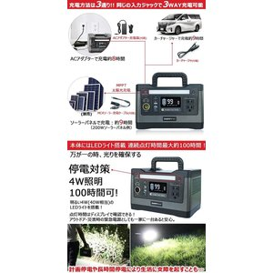 GOODGOODS ポータブル電源 大容量 家庭用蓄電池 540Wh 150000mAh 純正弦波 ...