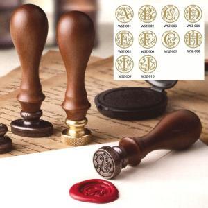 封蝋印 シーリングワックススタンプ A〜J アルファベットシリーズ 10種類から選択可能 パーソナル...