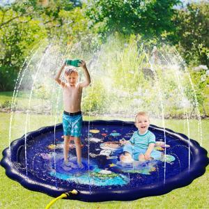 子供プール 噴水プール 噴水マット 噴水池 夏の日 庭 芝生遊び 空気不要 親子遊び  庭 芝生遊び...