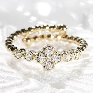 ゴールドと繊細なダイヤモンドの煌めき。。。形状記憶カットボールワイヤーに、輝きの良いダイヤを9石セッ...
