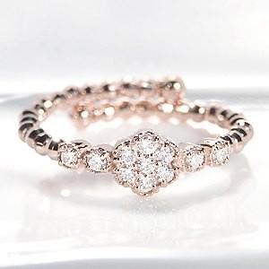 ゴールドと繊細なダイヤモンドの煌めき・・・形状記憶カットボールワイヤーに、輝きの良いダイヤを11石セ...