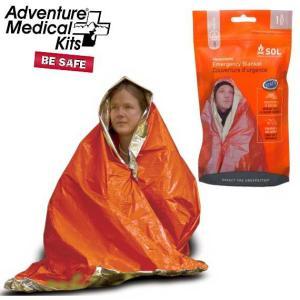 ADVENTURE MEDICAL KITS(アドベンチャーメディカルキット) SOL Emergency Blanket One Person SOLエマージェンシーブランケット 個人用緊急シェルター beside-mountain