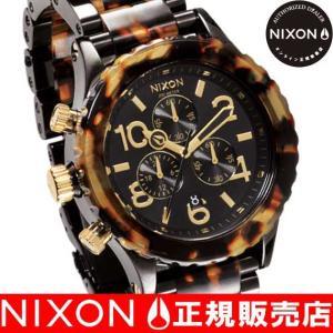 ニクソン (NIXON) 腕時計 THE 42-20 CHRONOクロノ ALL BLACK/TORTOISE NA037679-00 メンズ|beside-mountain