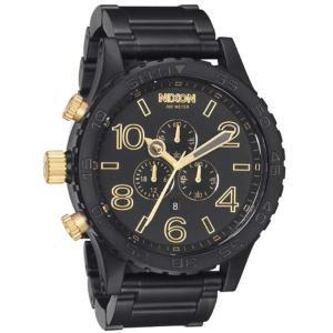 ニクソン (NIXON) 腕時計 THE 51-30 CHRONOクロノ  MATTE BLACK/GOLD NA0831041-00 メンズ |beside-mountain