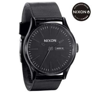 ニクソン (NIXON) 腕時計 THE SENTRY LEATHER ALL BLACK(セントリー レザー オールブラック) NA105001-00|beside-mountain