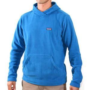 patagonia(パタゴニア) Micro D Hoody Bandana Blue マイクロDフーディー男性用ブルー マイクロフリース素材フーディー|beside-mountain