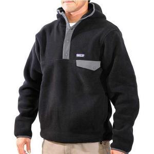 patagonia(パタゴニア) Snap-T Hoody Black スナップTフーディー男性用 ブラック フリース素材フーディー|beside-mountain